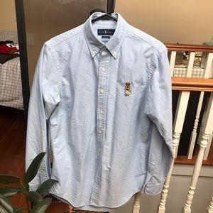 3/60$ Ralph Lauren cute baby blue shirt